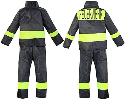 Nerd Clear Feuerwehr Kostüm für Kinder | 2-teilig: Jacke, Hose | ideal für Karneval & Fasching | Jungen & Mädchen |: Größe: 128-134 (Kostüm Elvis Frau)