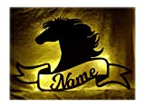 Schlummerlicht 24 Geschenke mit Namen für Pferd Pferde Mädchen Pferdefan Pferdeliebhaber Pferdebesitzer Kinder Erwachsene Pferdefreunde