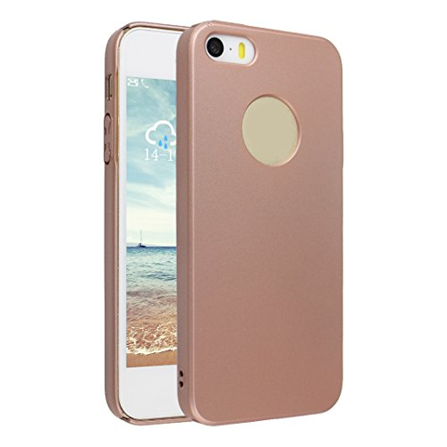 Cover iPhone 5S SE PC Rigida, Custodia iPhone 5 Oro rosa, Moon mood® Ultra Sottile Protective PC Hard Back Bumper Cover Sleeve Phone Case Antiurto Anti-scratch Anti-Graffio Copertura Protettiva in Pla Oro rosa