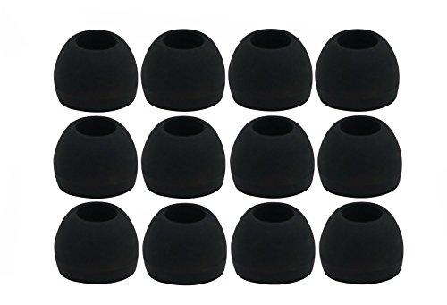 12pcs (ALL B) Medium (M) Replacement Ear Adapters Earbuds Ear Tips Set for Sennheiser IE Series, CX Series, CXC Series, CXL Series, OCX Series, and MM Series In Ear Earphones / Headphones