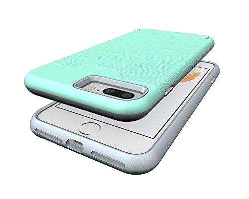 Coque Smartphone Apple iPhone 7 Plus, KATUMO® Coque Silicone pour iPhone 7 Plus(5.5 Pouces) Housse de Protection Gel Case-Noir Vert