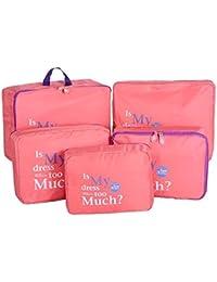 Shopper Joy Conjunto de 5 Bolsas de Equipaje Organizadores para Maleta Cubos de Embalaje para Viaje Vacaciones
