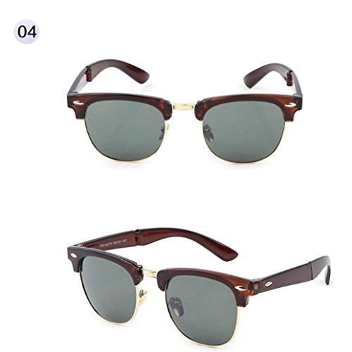 Btruely Unisex Sonnenbrille Sommer 2018 Neue Fahrbrille Polarisierte Sonnenbrille Mode Glasses Nachtsichtbrille Fahrbrille Mode Klassische Sportbrille Klassische Gläser Gefaltete Gläser (D)