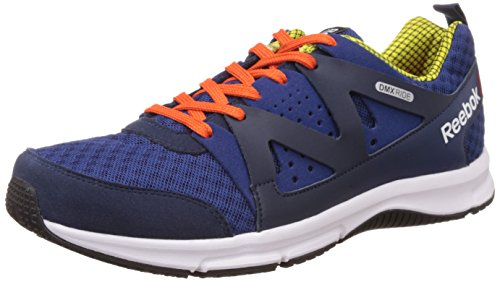 Reebok Men's Supreme Run Dark Blue, Green, Orange, White and Black Running Shoes – 10 UK 41EYZ979oyL