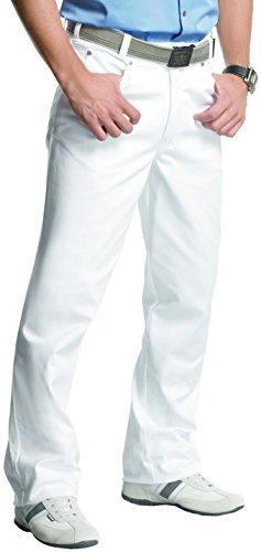 clinicfashion 12013002 Jeans Arzthose Herren weiß, Langgröße, Baumwolle Stretch, Größe 98