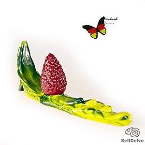 Beere auf Blatt: vielseitiger Dildo aus Silikon mit Farbwechsel; knubbeliger kleiner Kegel und bewegliche, strukturierte…
