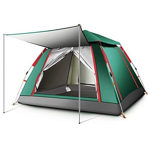 MRL 4-6 Mann Camping Zelt Automatische Pop-up wasserdichte Familienzelt Outdoor tragbare Kuppelzelt, 2 Farben, 2 Größen,BLAU,215 * 215 * 142CM