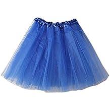 OUTEYE Vestidos Tute Mini Falda Casual Danza Costume Fiesta Mujer Chica