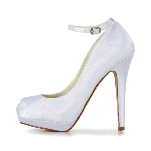 Jia Jia Wedding 40916 chaussures de mariée mariage Escarpins pour femme Blanc