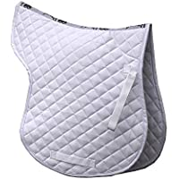 Rhinegold Cotton Quilted Numnah-Full-White, Blanco, Plein