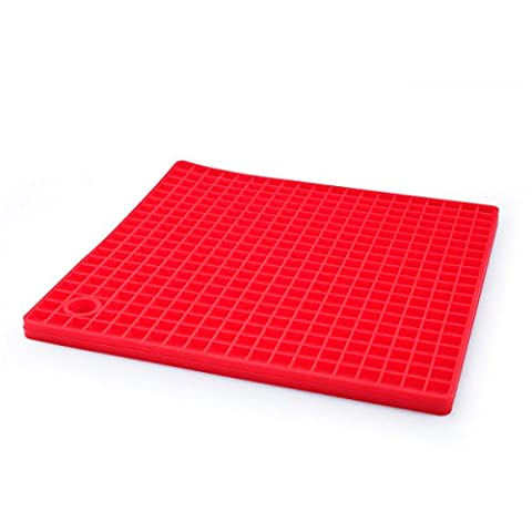 GloriaStore Silicone Placemats Set of 4 Table Mats Heat Resistant Rubber Red