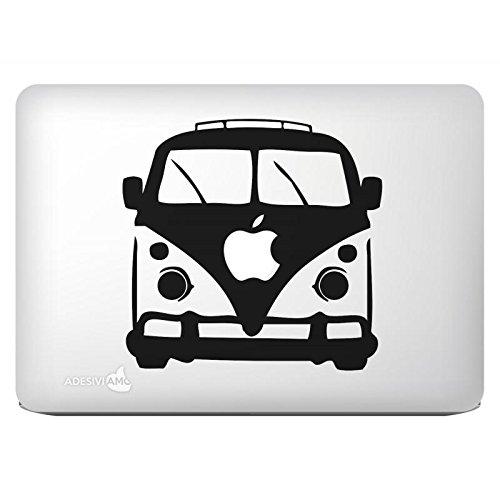 """Adhesivo """"Hippie Bus"""" de un solo color para todos los modelos de Apple Mac Book"""