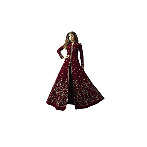 SuperX Womens Latest Designer Semi-Stitched Long Anarkali Gowns With Embroidery Work for...