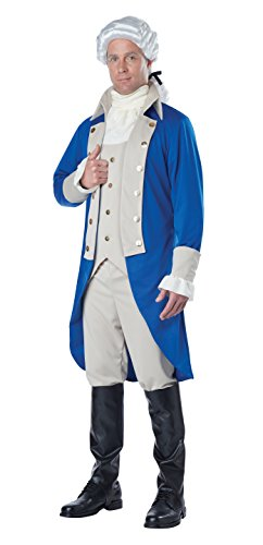 California Costumes Men's George Washington Costume, Blue/Tan, Small (Washington George Kostüm Erwachsene)