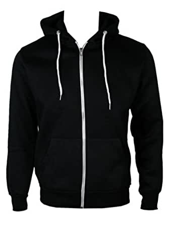 The Home of Fashion Mens Fleece Lined Hooded Jumper-XL -Black