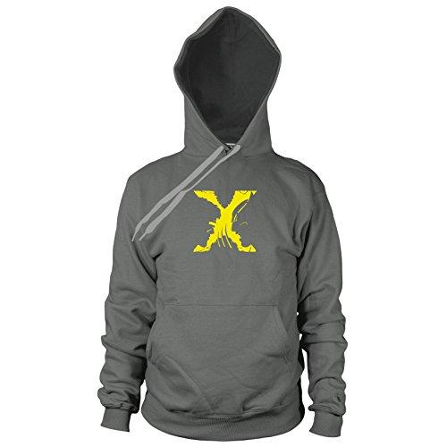 Kostüm Cyclops Magneto - Planet Nerd Mutants - Herren Hooded Sweater, Größe: S, Farbe: grau