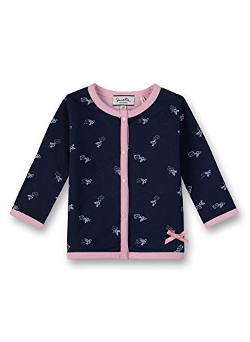 Sanetta Baby-Mädchen Sweatjacke Jacket Reversible, Blau (Deep Blue 5993.0), 74