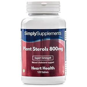 Pflanzensterole 800mg – 120 Tabletten – Versorgung für bis zu 4 Monaten – Aufrechterhaltung des normalen Cholesterinspiegels – Simply Supplements