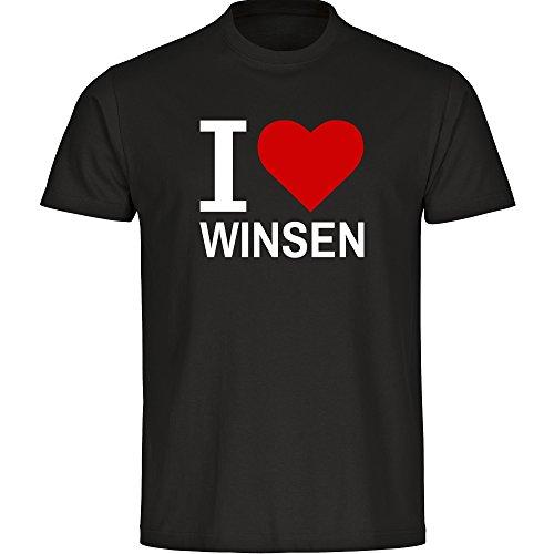 T-Shirt Classic I Love Winsen Schwarz Kinder Gr. 128 bis 176, Größe:176