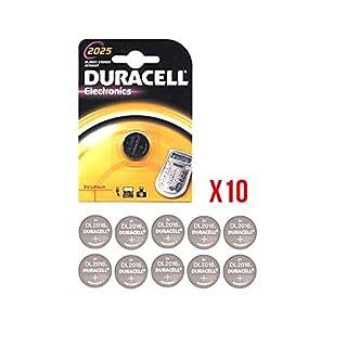 Duracell Electronics Lithium-Batterie mit 3V, für Taschenrechner, 2025, 10 Packungen