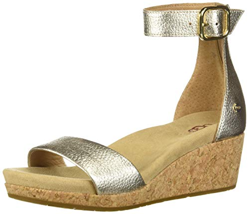 UGG Women's Zoe Ii Metallic Wedge Gold in Size 39