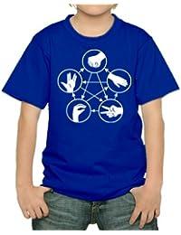 Stein Schere Papier Echse Spock Kinder T-Shirt div. Farben