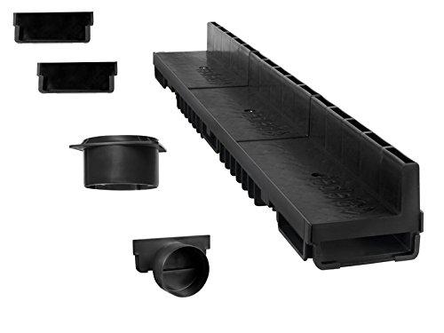 'S'lon Caniveau à Fente 6 m (kit Complet) | Plastique Noir Classe B125 | Type 20 (caniveaux)