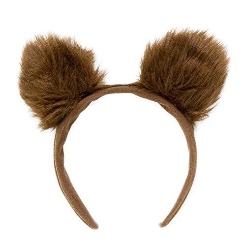 Ohren Kostüm Bären - PARTY DISCOUNT NEU Haarreif Bärenohren, aus Plüsch, 2 Stück
