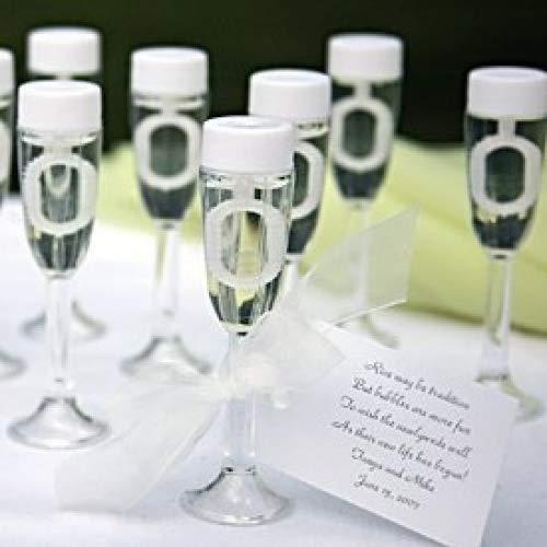 Lot de 72 flûtes à champagne pour faire des bulles de savon, à offrir en cadeau aux invités lors des mariages