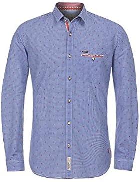 Michaelax-Fashion-Trade Stockerpoint - Herren Trachtenhemd in Rot und Blau, Taylor