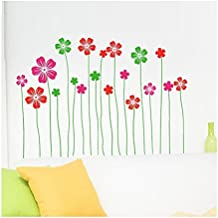 UberLyfe Chic Floral Fantasy Wall Sticker Size 3 (Wall Covering Area: 60cm x 100cm) - WS-1131