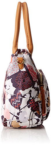 Oilily Damen M Carry All Schultertasche, 14 x 27 x 32 cm Grau (Charcoal)