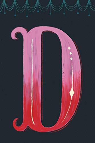 Notizbuch Monogramm: Personalisiertes Journal gepunktet mit Initial, Design Letters Buchstabe D