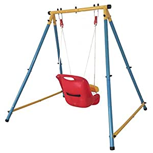Iunnds baby outdoor garden folding swing set with safety for Baby garden swing amazon