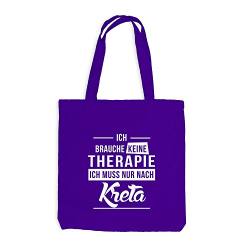 Borsa Di Juta - Non Ho Bisogno Di Terapia - Creta - Greece Greece Travel Purple