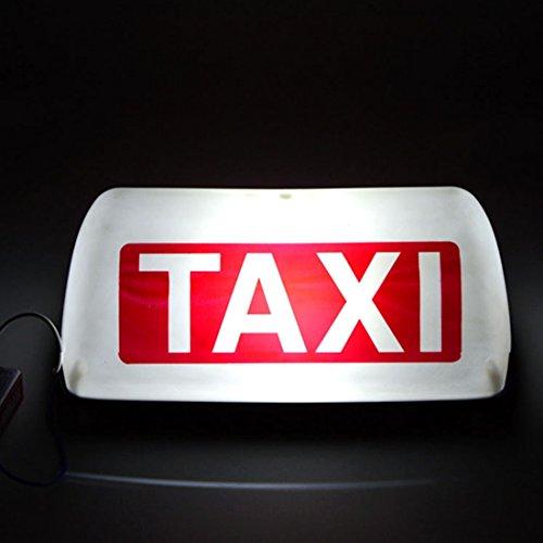 Luci di alta qualità, TAXI Bright Top Board Dach Zeichen Licht Anzeige Cab Lampe 12 V (Warmes Weißes Licht) (Top Light Taxi)