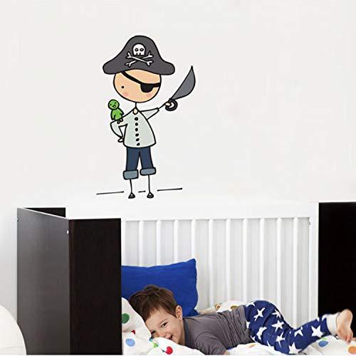 (Smntt Cartoon Pirate Mateys Volle Farbe Vinyl Aufkleber Wandaufkleber Für Kinderzimmer Kindergarten Abnehmbare Tapete Aufkleber Schlafzimmer Wohnkultur)