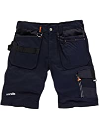 "Scruffs Trade Short, Pantalones para Hombre, Azul (Ink Blue), 44 ES (34"" UK)"