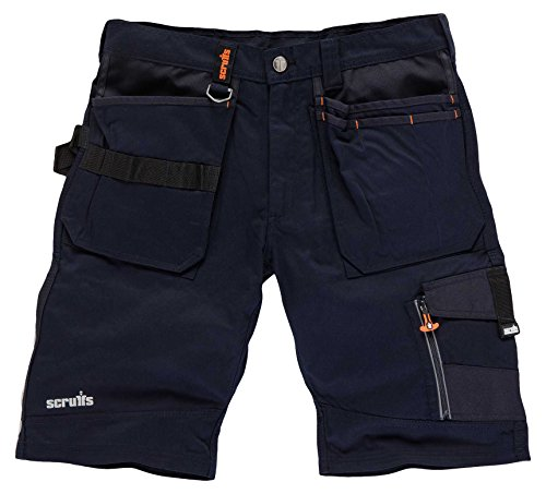 Scruffs Trade Short, Pantalones para Hombre, Azul (Ink Blue), 48 ES (38' UK)