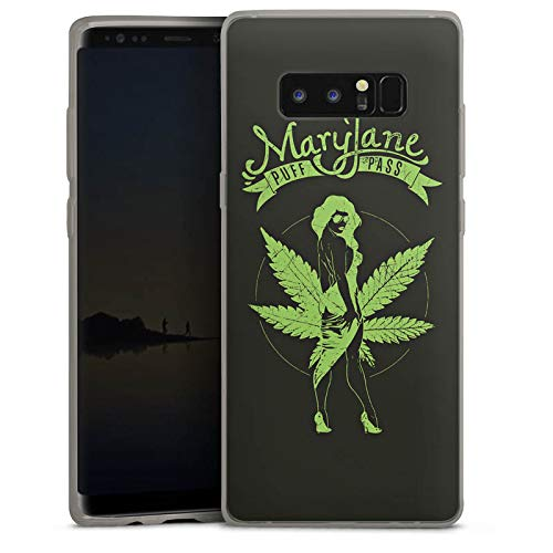 DeinDesign Slim Case Silikon Hülle Ultra Dünn Schutzhülle kompatibel mit Samsung Galaxy Note 8 Duos Maryjane Marihuana Hanf