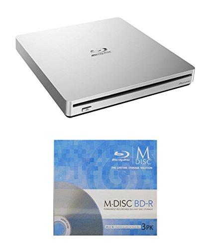 Pioneer 6x bdr-xs06Slim Tragbarer Blu-ray Brenner Paket mit 3Pack M-Disc-BD–USB 3.0unterstützt BDXL-Datenträger,...