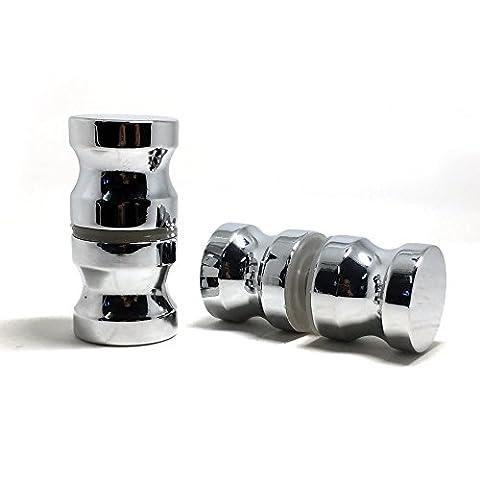 Alliage de zinc poignée simple Groove Poignée de porte de douche en verre armoire de salle de bain Home Lot de 2paire