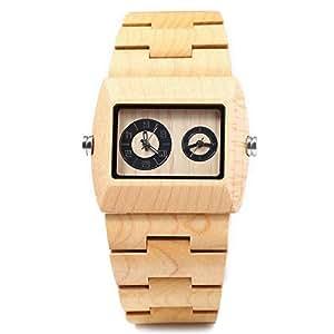 Bewell ysl uk 163689805 orologio da polso da uomo di for Orologio legno amazon
