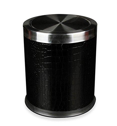 bidoni-della-spazzatura-in-pelle-bidoni-domestici-vita-creativa-camera-barili-cucina-deposito-black