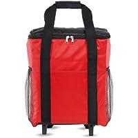 Grande Borsa Cooler con ruote - 18Ltr isolato Borsa frigo (rosso)
