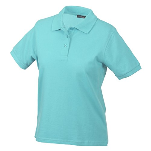 JAMES & NICHOLSON Hochwertiges Polohemd mit Armbündchen Aqua