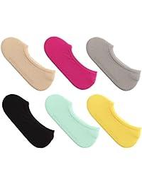huiouer - Calcetines Cortos Invisibles para niños, Color Caramelo para niñas