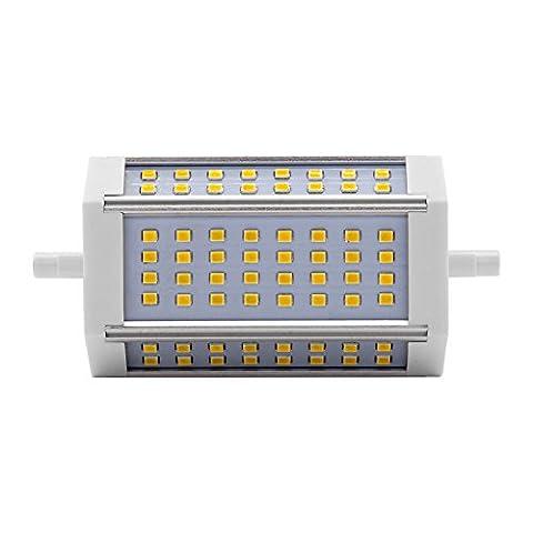 ALOTOA R7S Ampoule LED, Dimmable, Haute Lumière, 3000LM 6000k Lumière froide blanche, 2835 SMD, non scintillement, 118mm Double Ended, Lampe halogène de remplacement de l'ampoule halogène R7S (30w, cool white)