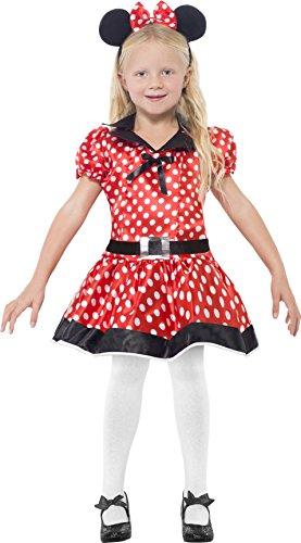 Smiffys Kinder Süße Maus Kostüm, Kleid, Gürtel und Haarreif, Größe: M, (Maus Ideen Kostüm Süßes)