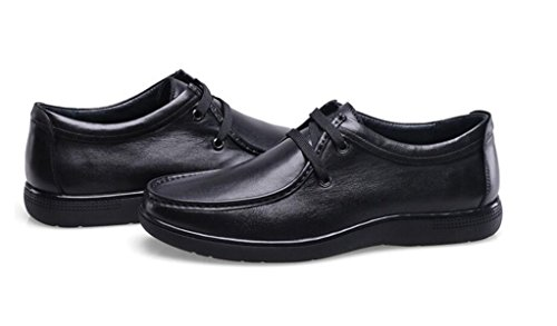 GRRONG Scarpe In Pelle Business Leisure Vera Pelle Da Uomo Nero Marrone Black
